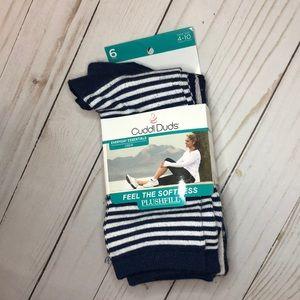 Cuddl Duds Plushfill socks 6 pk Blue Tones